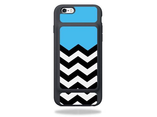 Skin Decal Wrap for Apple iPhone 6s Smart Battery Case skins Baby Blue Chevron