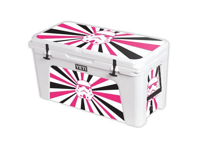 Skin Decal Wrap for YETI Tundra 110 qt Cooler cover sticker Pink Star Rays