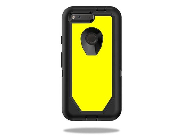 Skin Decal Wrap for OtterBox Defender Pixel 5 Case Solid Yellow