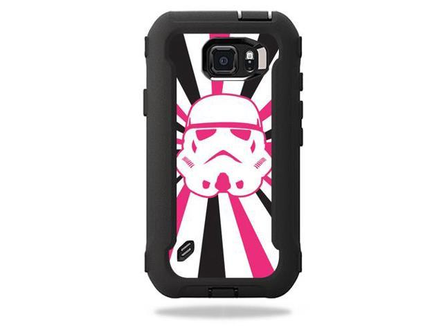 Skin Decal Wrap for OtterBox Defender Galaxy S6 Active Pink Star Rays