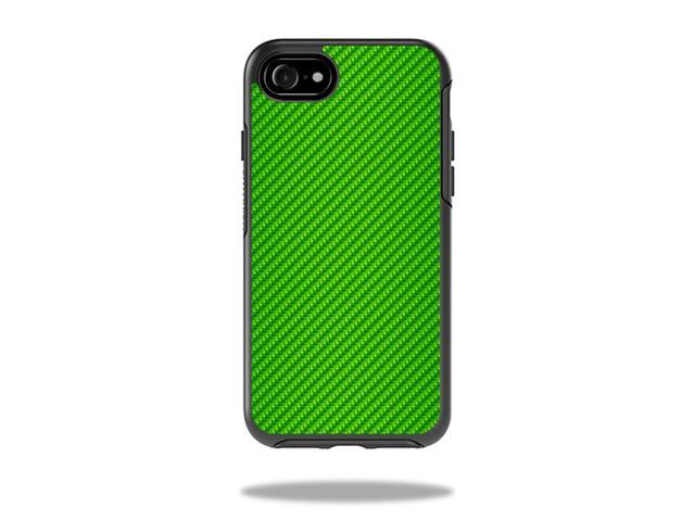 Skin Decal Wrap for OtterBox Symmetry iPhone 7 Case Lime Carbon Fiber