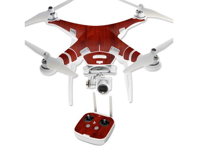 Skin Decal Wrap for DJI Phantom 3 Professional Quadcopter Drone Cherry Wood