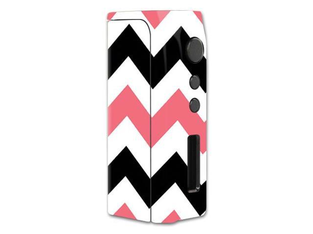 Skin Decal Wrap for Pioneer4You iPV D2 75W mod skins vape Black Pink Chevron