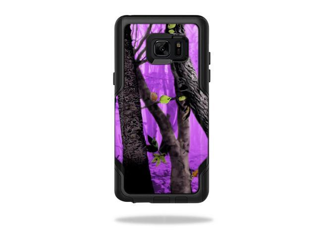 Skin Decal Wrap for OtterBox Commuter Galaxy Note 7 Purple Tree Camo