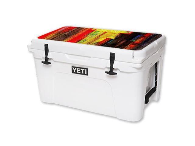 Skin Decal Wrap for YETI Tundra 45 qt Cooler Lid Painted Wood