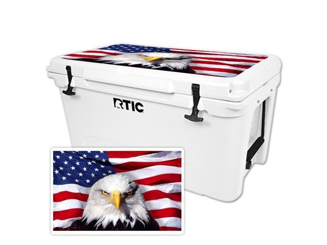 Skin Decal Wrap for RTIC 65 Cooler Lid America Strong