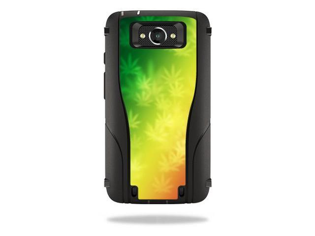 Skin Decal Wrap for Otterbox Defender Droid Turbo Case Case Rasta Rainbow