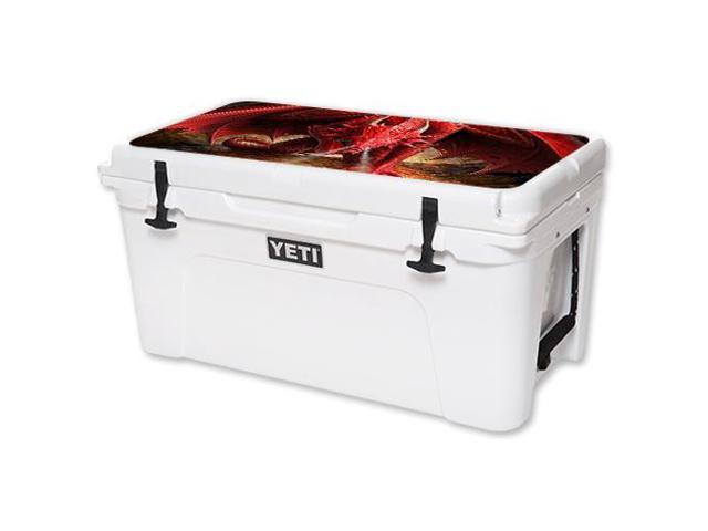 Skin Decal Wrap for YETI Tundra 65 qt Cooler Lid Angry Dragon