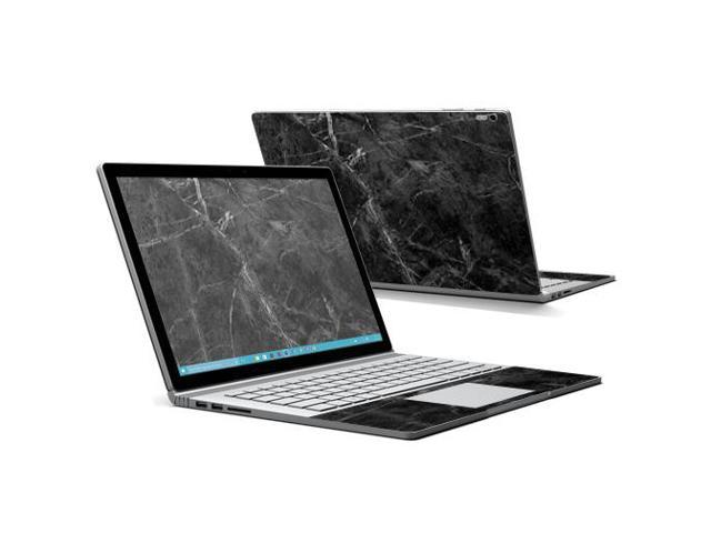 Skin Decal Wrap for Microsoft Surface Book cover sticker Black Marble