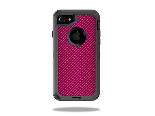 Skin Decal Wrap for OtterBox Defender iPhone 7 Case Pink Carbon Fiber