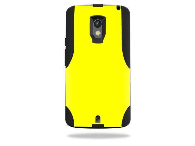 Skin Decal Wrap for OtterBox Commuter Motorola Droid Maxx 2 Solid Yellow