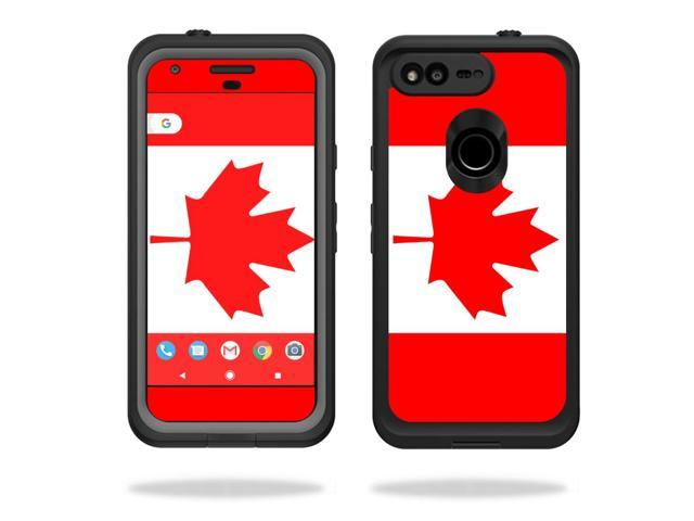 "Skin Decal Wrap for Lifeproof fre Google Pixel XL 5.5"" Case Canadian Flag"