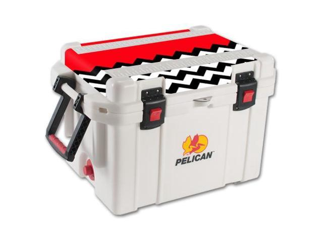 Skin Decal Wrap for Pelican 35 qt Cooler Lid sticker Red Chevron