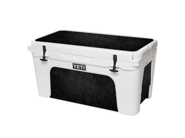 Skin Decal Wrap for YETI Tundra 75 qt Cooler sticker cover Black Leather