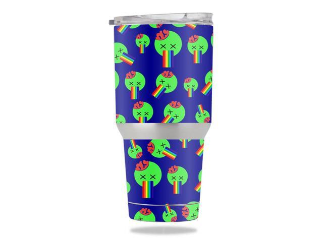 Skin Decal Wrap for Members Mark 30 oz Tumbler Rainbow Brains Out