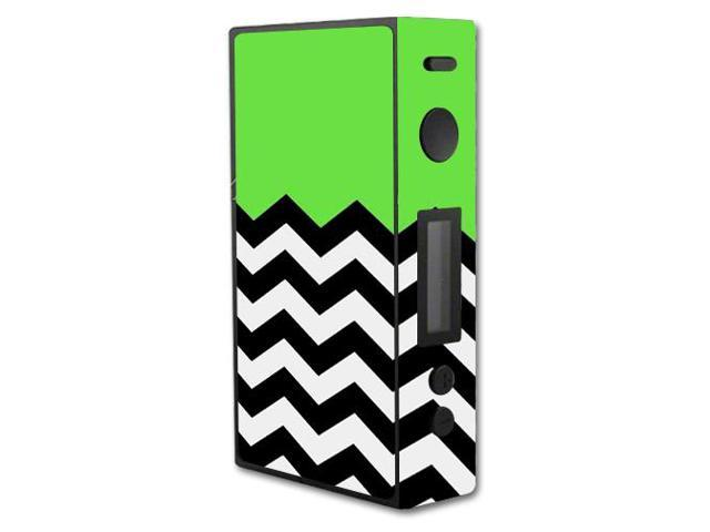 Skin Decal Wrap for Hohm Wrecker 151W TC box mod vape Lime Chevron