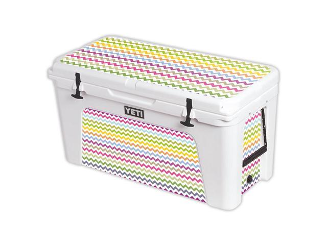 Skin Decal Wrap for YETI Tundra 125 qt Cooler cover sticker Rainbow Chevron