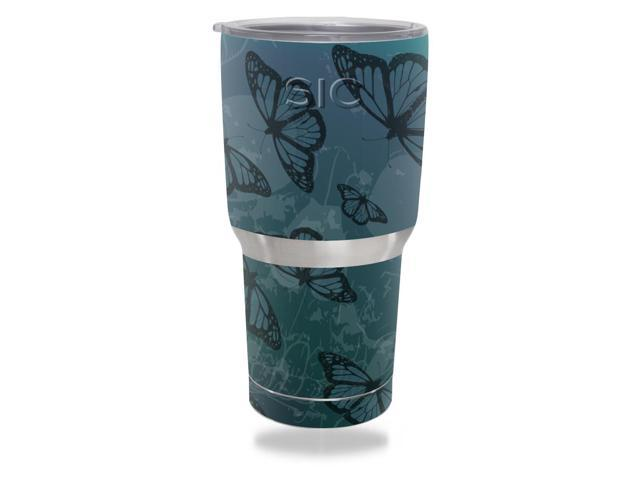 Skin Decal Wrap for SIC 30 oz Tumbler (Seriously Ice Cold) Dark Butterfly