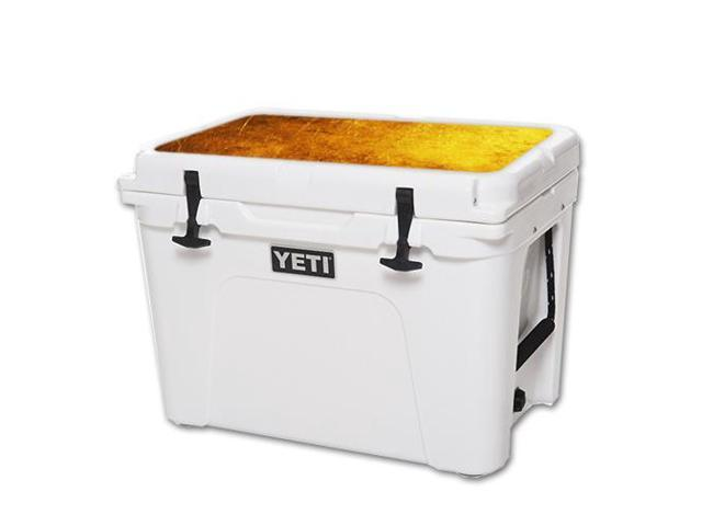 Skin Decal Wrap for YETI Tundra 50 qt Cooler Lid Textured Gold