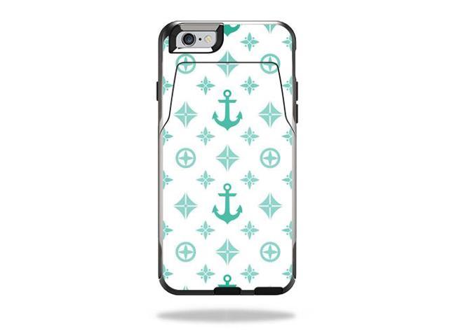 Skin Decal Wrap for OtterBox Commuter iPhone 6/6S Wallet Case Teal Designer