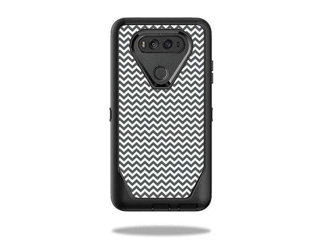 Skin Decal Wrap for OtterBox Defender LG V20 Case Gray Chevron