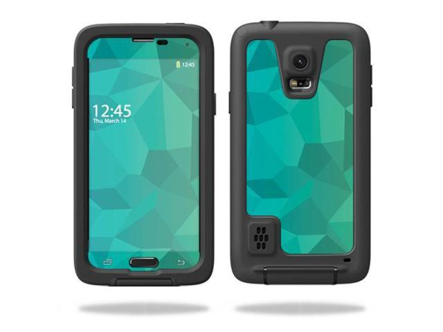 Skin Decal Wrap for LifeProof Samsung Galaxy S5 Case Blue Green Polygon