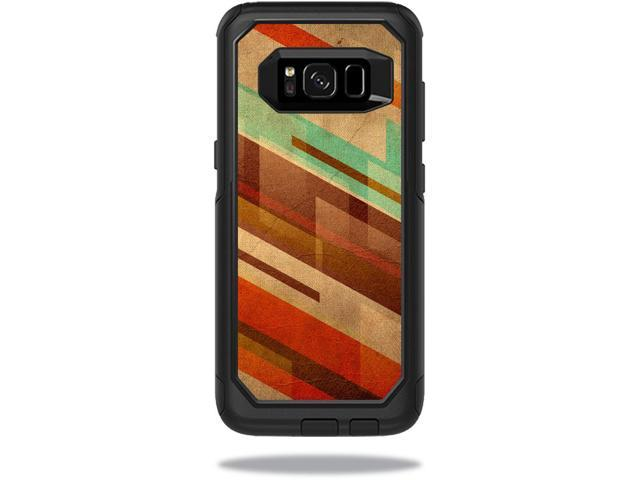 Skin Decal Wrap for OtterBox Commuter Samsung Galaxy S8 Case Abstract Wood