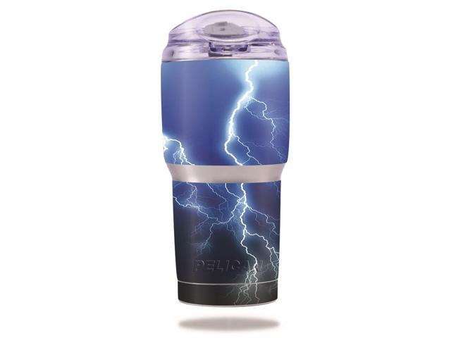 Skin Decal Wrap for Pelican Tumbler 22 oz cover sticker Lightning Storm