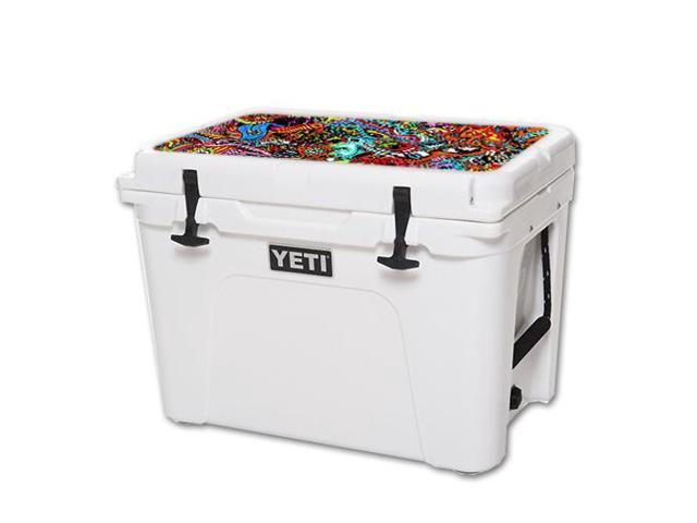 Skin Decal Wrap for YETI Tundra 50 qt Cooler Lid Acid Trippy