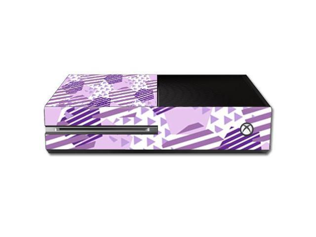 Skin Decal Wrap for Microsoft Xbox One Console Purple Pentagon
