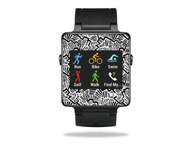 Skin Decal Wrap for Garmin Vivoactive Watch cover sticker Abstract Black