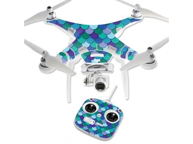 Skin Decal Wrap for DJI Phantom 3 Standard Drone Blue Scales
