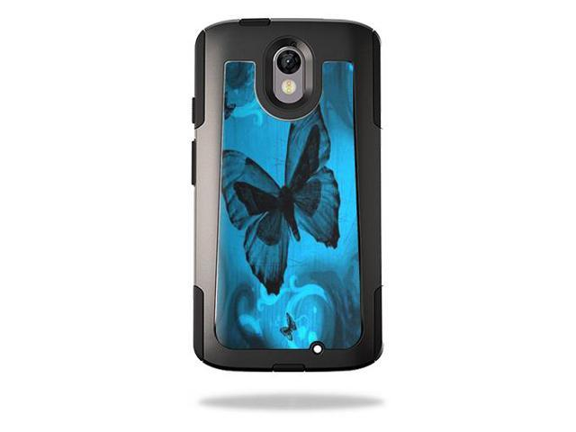 Skin Decal Wrap for OtterBox Commuter Motorola Droid Turbo 2 Dark Butterfly