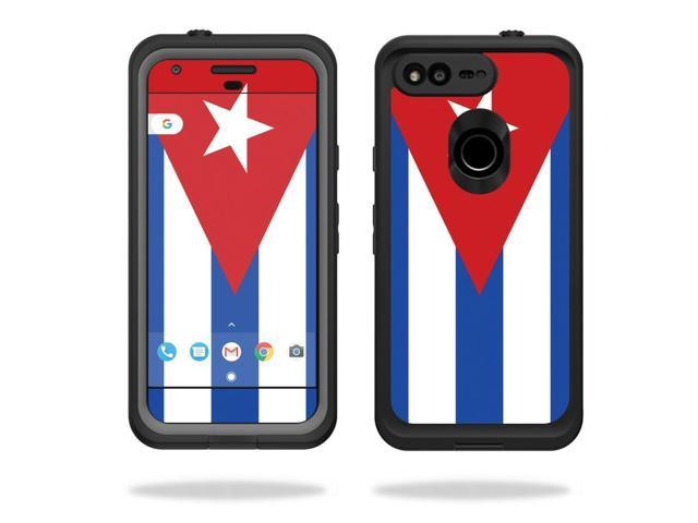 "Skin Decal Wrap for Lifeproof fre Google Pixel XL 5.5"" Case sticker Cuban Flag"
