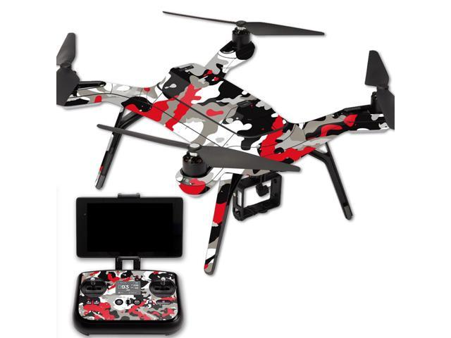 Skin Decal Wrap for 3DR Solo Drone Quadcopter sticker Red Camo