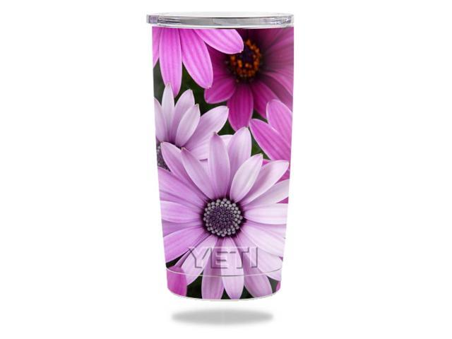 Skin Decal Wrap for YETI 20 oz Rambler Tumbler cover sticker Purple Flowers