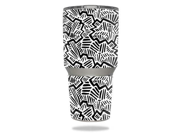 Skin Decal Wrap for YETI 30 oz Rambler Tumbler cover sticker Abstract Black