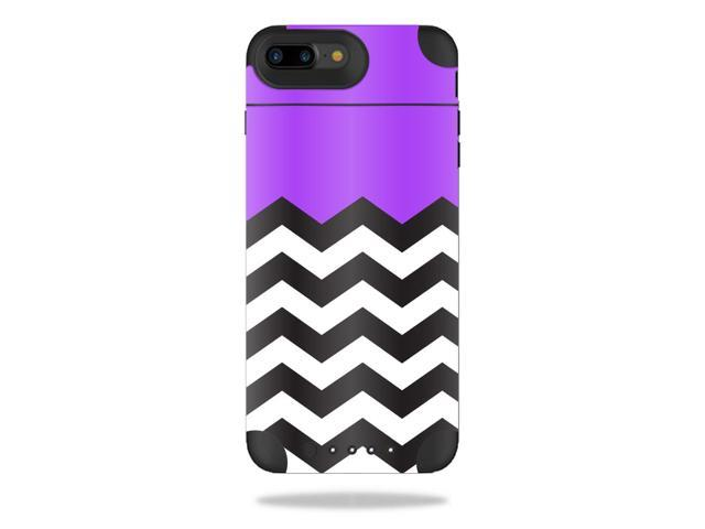 Skin Decal Wrap for Mophie Juice Pack Air iPhone 7 Plus Purple Chevron