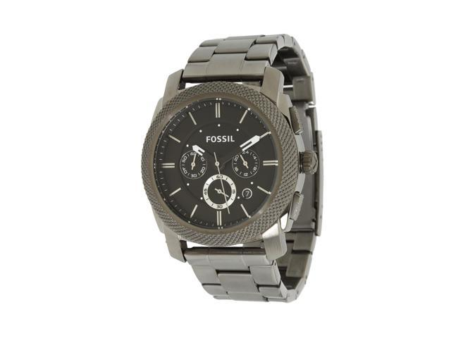 Fossil Machine Chronograph Black Dial Smoke Ion-plated Mens Watch FS4662
