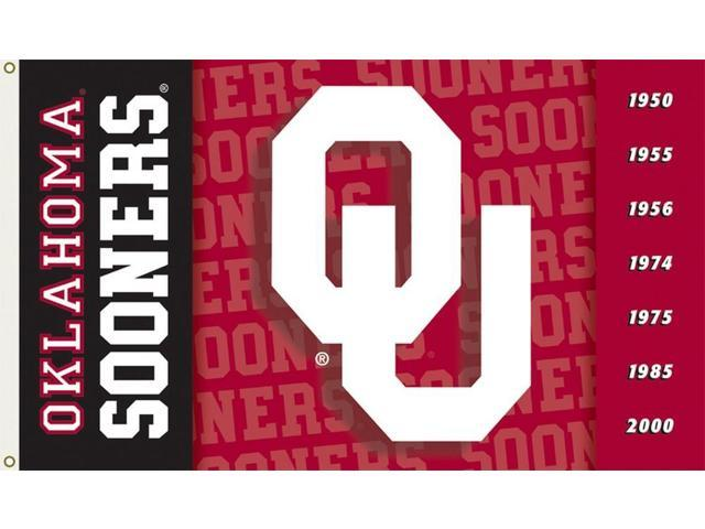 Bsi Products 92019 2-Sided 3 Ft. X 5 Ft. Flag W/Grommets - Oklahoma Sooners