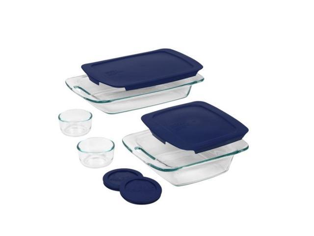 Pyrex 8-pc. Glass Easy Grab 8 piece Bake and Store Set, Blue