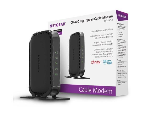 netgear docsis 3 0 340mbps cable modem for xfinity time. Black Bedroom Furniture Sets. Home Design Ideas