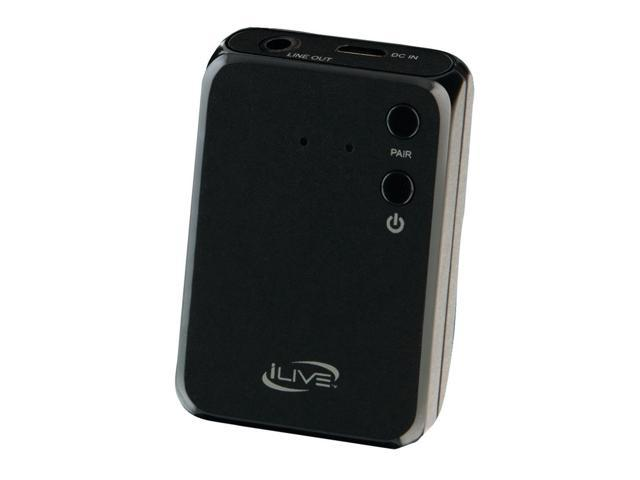 iLive IAB13B Black Bluetooth Receiver and Adapter