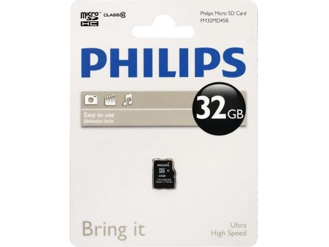 Philips FM32MD45B/27 Philips FM32MD45B 32 GB microSDHC - Class 10 - 1 Card/1 Pack
