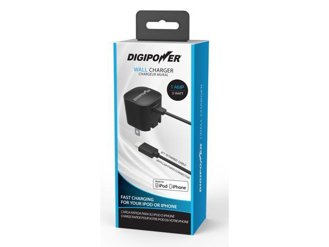 DigiPower IP-AC1L-T Black Cell Phone - Chargers & Cables