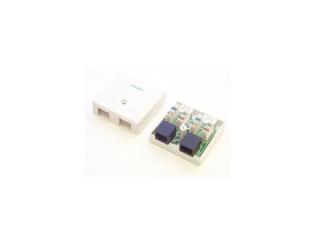 Startech.com Dual Cat 5e Rj45 Wall Jack White With Keystone Jacks - Rj-45 Network - White