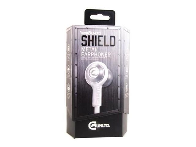 Ecko Shield Ear Buds w/Mic & Volume Control Silver