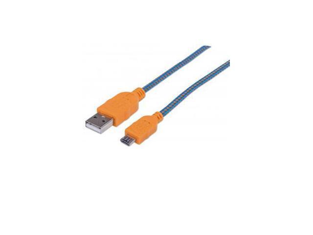 MANHATTAN 394024 3 ft. Blue/Orange Hi-Speed USB Device Cable Blue/Orange