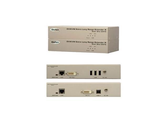 Gefen EXT-DVIKVM-ELR Extra Long Range KVM Extender for DVI and USB over one Cat-5 cable