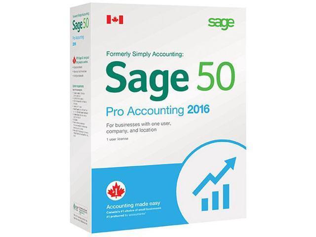 Sage Software SAGE 50 CA PRO ACCOUNTING 2016
